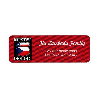 Texas Czech American Address Labels