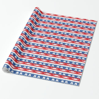 Texas dancers hats, boots and stars wrapping paper