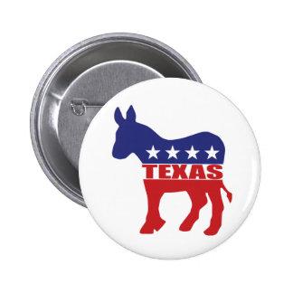 Texas Democrat Donkey Pinback Button