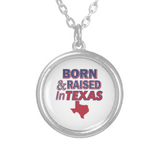 Texas design silver plated necklace