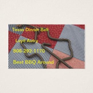 texas dinner bell business card