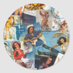 """Texas Eclectic """" Cowgirl Collection No. 2 Classic Round Sticker"""