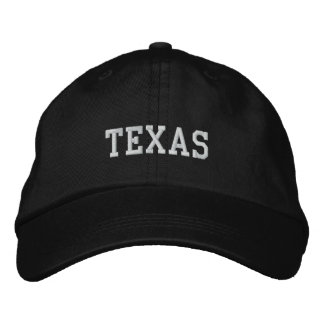Texas Embroidered Adjustable Cap Black Baseball Cap