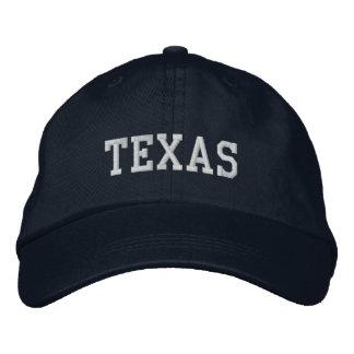 Texas Embroidered Adjustable Cap Navy Baseball Cap