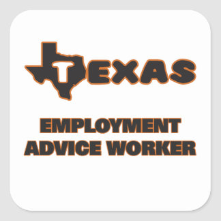 Texas Employment Advice Worker Square Sticker