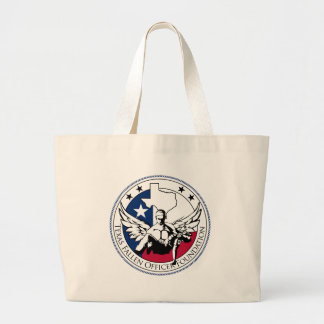 Texas Fallen Officer Foundation Large Tote Bag