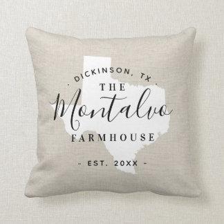 Texas Family Monogram State Throw Pillow