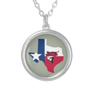 Texas Fishing Silver Plated Necklace