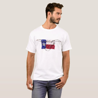 Texas Flag, Barbed Wire Skull, T-Shirt
