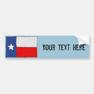 Texas Flag Bumper Sticker