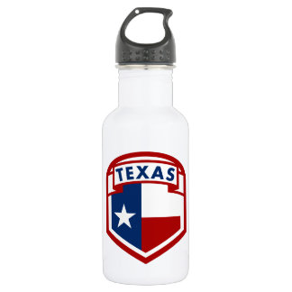 Texas Flag Coat of Arms Style 532 Ml Water Bottle