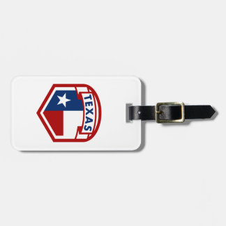 Texas Flag Coat of Arms Style Luggage Tag