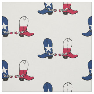 Texas Flag Cowboy Boots 2 Any Color Background Fabric