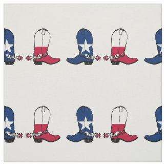 Texas Flag Cowboy Boots Any Color Background Fabric