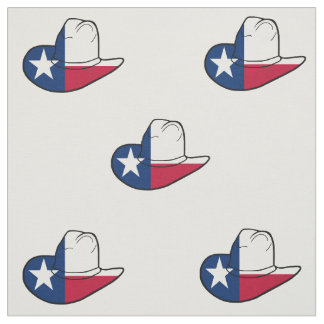 Texas Flag Cowboy Hat Fabric ANY COLOR BACk 9""