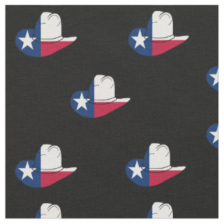 Texas Flag Cowboy Hat Fabric ANY COLOR BACKGROUND