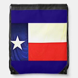 Texas Flag Drawstring Backpack