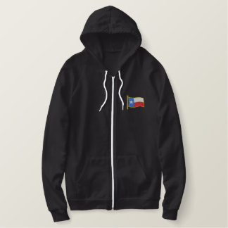 Texas Flag Embroidered Hooded Sweatshirt