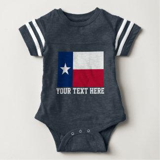 Texas flag football jersey baby bodysuit
