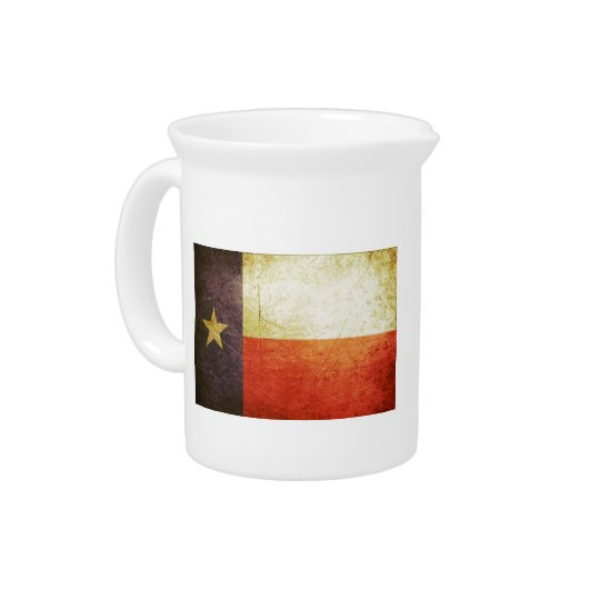 Texas Flag Grunge effect Drink Pitchers