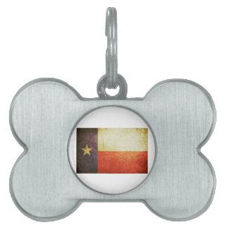 Texas Flag Grunge effect Pet ID Tag