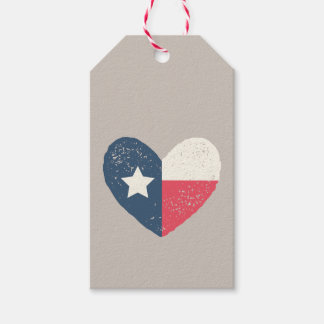 Texas Flag Heart Gift Tags