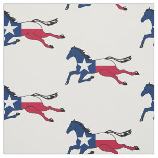 Texas Flag Horse Running Fabric