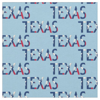 Texas Flag In The Word Texas on lt blue Fabric
