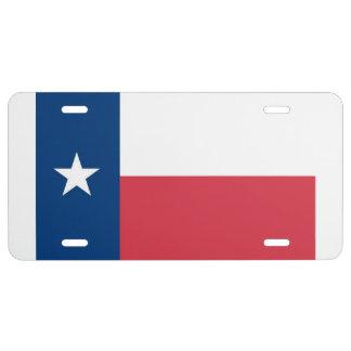 Texas Flag License Plate