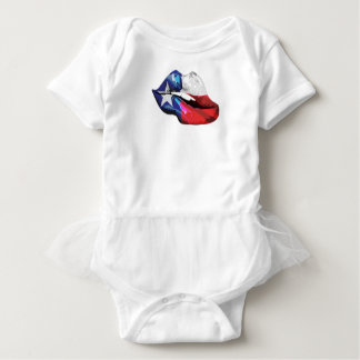 Texas Flag Lips Baby Bodysuit