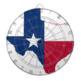 Texas flag map dart board