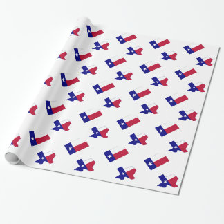 Texas Flag Map With Flag Wrapping Paper