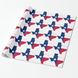 Texas flag map wrapping paper