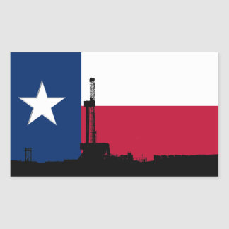 Texas Flag Oil Drilling Rig