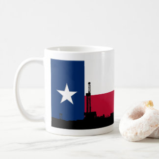 Texas Flag Oil Drilling Rig Coffee Mug