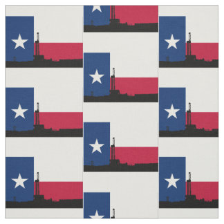 Texas Flag Oil Drilling Rig Fabric