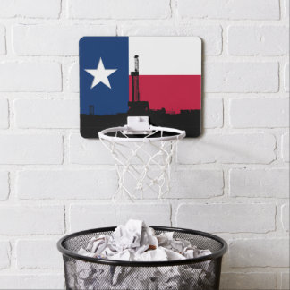 Texas Flag Oil Drilling Rig Mini Basketball Backboard