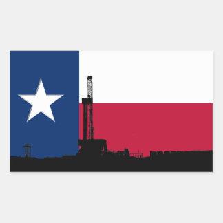 Texas Flag Oil Drilling Rig Sticker