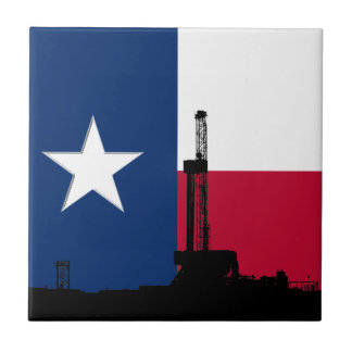 Texas Flag Oil Drilling Rig Tiles