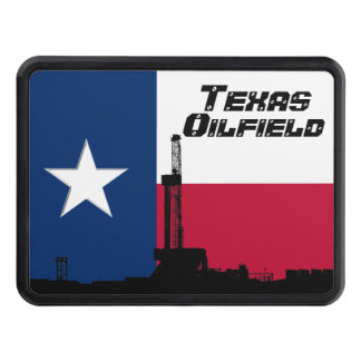 Texas Flag Oil Drilling Rig Tow Hitch Cover