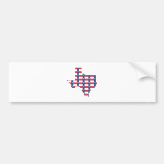 Texas Flag Outline Bumper Sticker