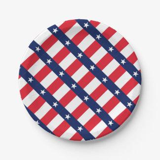 TEXAS FLAG PAPER PLATE