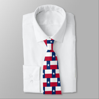 Texas flag pattern neck tie gift for Texan party