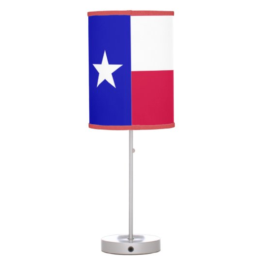 Texas Flag - Red, White, Blue Table Lamp