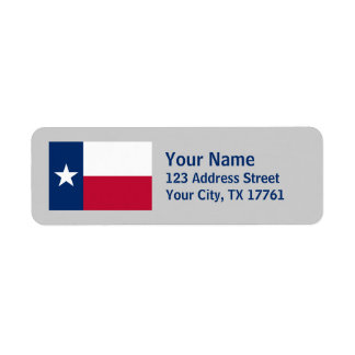 Texas Flag Return Address Labels