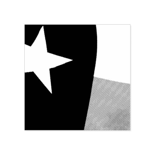 Texas Flag Rubber Stamp