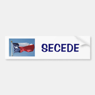 texas-flag, SECEDE Bumper Sticker