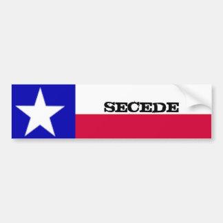 Texas Flag Secede Sticker