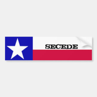 Texas Flag Secede Sticker Bumper Sticker