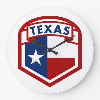 Texas Flag Shield Style Large Clock